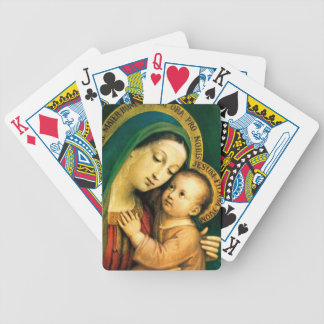 MADONNA AND CHILD BICYCLE PLAYING CARDS