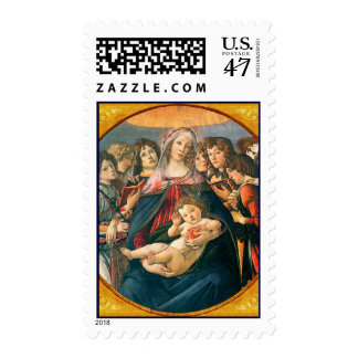 Madonna and Child Botticelli Christmas Postage