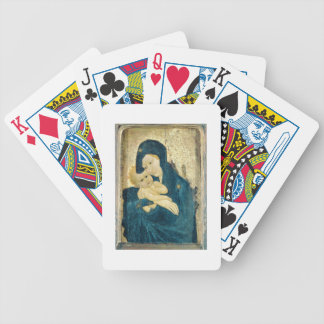 Madonna and Child, Bourgogne School (oil on panel) Bicycle Playing Cards