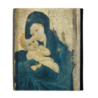 Madonna and Child, Bourgogne School (oil on panel) iPad Case