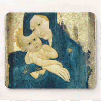 Madonna and Child, Bourgogne School (oil on panel) Mouse Pad