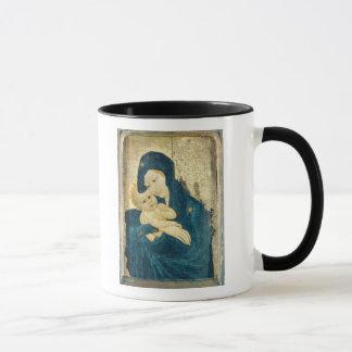 Madonna and Child, Bourgogne School (oil on panel) Mug