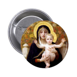 Madonna and Child Buttons