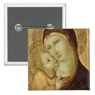 Madonna and Child Button