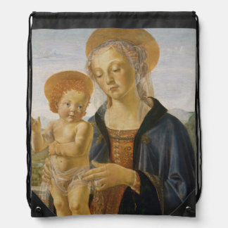 Madonna and Child by Andrea del Verrocchio Drawstring Backpack