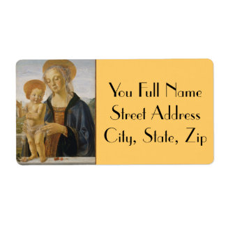 Madonna and Child by Andrea del Verrocchio Personalized Shipping Labels