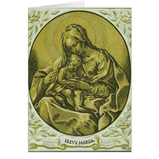 Madonna and Child by Bartolommeo Coriolano Greeting Card
