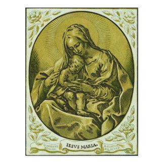 Madonna and Child by Bartolommeo Coriolano Postcard