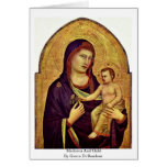 Madonna And Child By Giotto Di Bondone Greeting Card