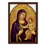 Madonna And Child By Giotto Di Bondone Greeting Cards