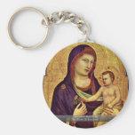 Madonna And Child By Giotto Di Bondone Key Chain