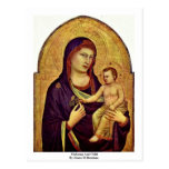 Madonna And Child By Giotto Di Bondone Post Cards