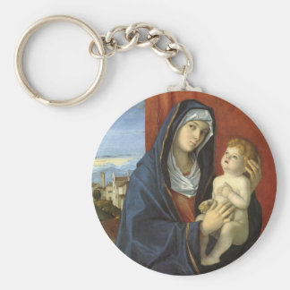 Madonna and Child by Giovanni Bellini Keychain