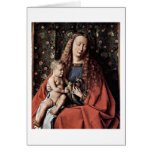 Madonna And Child By Johannes De Eyck Card