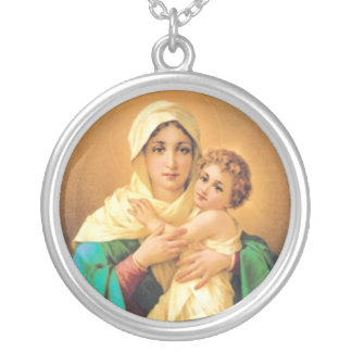 Madonna and Child by Luigi Crosio Custom Necklace