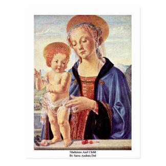 Madonna And Child  By Sarto Andrea Del Post Card