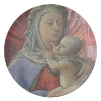Madonna and Child, c.1430 (tempera on panel) Melamine Plate