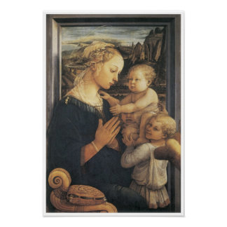 Madonna and Child, c. 1455 Poster