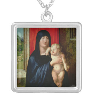 Madonna and Child, c.1496-99 Silver Plated Necklace