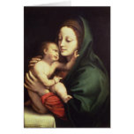 Madonna and child, c.1510 greeting card