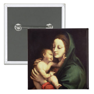 Madonna and child, c.1510 pinback button