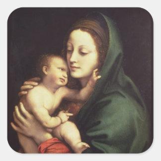 Madonna and child, c.1510 square sticker