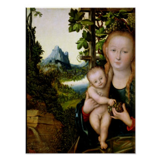 Madonna and Child, c.1525 Poster
