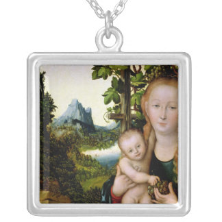 Madonna and Child, c.1525 Silver Plated Necklace