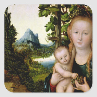 Madonna and Child, c.1525 Square Sticker