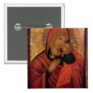 Madonna and Child, c.1650 (panel) Pinback Buttons