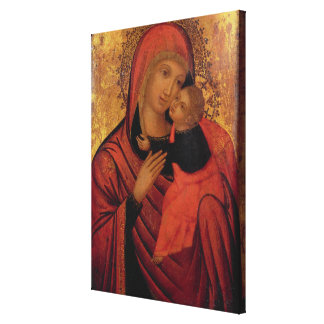 Madonna and Child c 1650 panel Gallery Wrapped Canvas