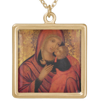 Madonna and Child, c.1650 (panel) Custom Necklace