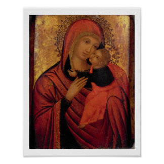 Madonna and Child c 1650 panel Posters
