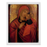 Madonna and Child, c.1650 (panel) Posters