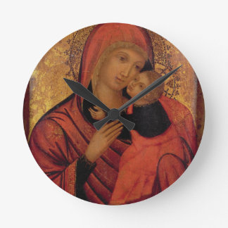 Madonna and Child, c.1650 (panel) Round Clock
