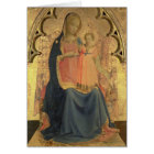 Madonna and Child, central panel of a triptych Card