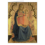 Madonna and Child, central panel of a triptych Greeting Card