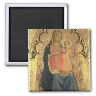 Madonna and Child, central panel of a triptych Magnet
