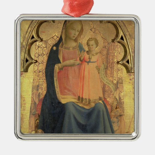 Madonna and Child, central panel of a triptych Metal Ornament