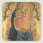 Madonna and Child, central panel of a triptych Square Sticker