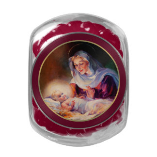 Madonna and Child. Christmas Gift Candy Jelly Belly Candy Jars