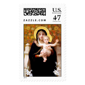 Madonna and Child Christmas Postage Stamp