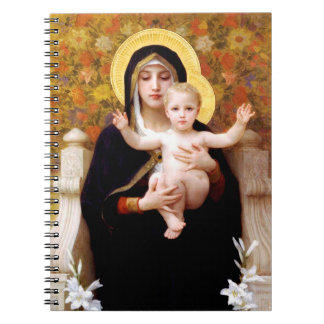Madonna and Child Christmas Spiral Notebook