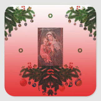 Madonna and Child [Christmas] Square Sticker