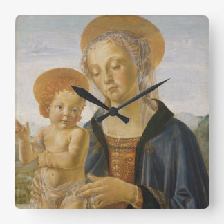 Madonna and Child, circa 1470 Square Wall Clock