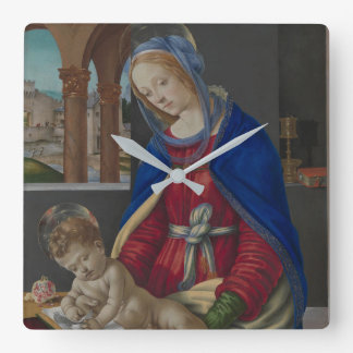 Madonna and Child, circa 1483-4 Square Wall Clock