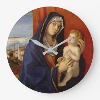 Madonna and Child, circa 1485 Large Clock