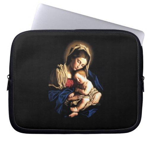 Madonna and Child Custom Laptop Sleeve