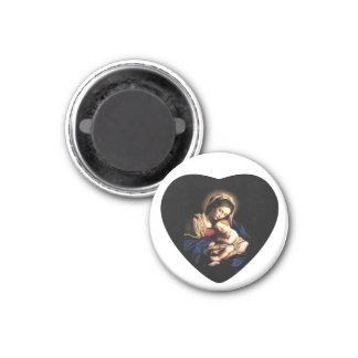 Madonna and Child Custom Magnet Heart