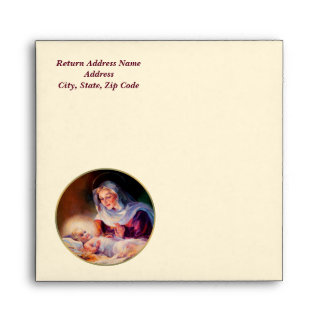 Madonna and Child Customizable Christmas Envelopes